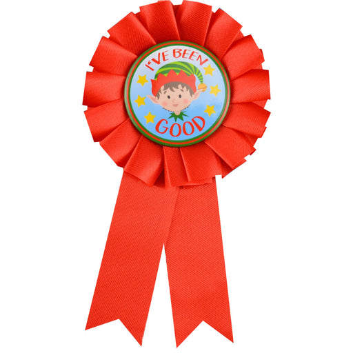 Christmas I've Been Good Rosette Badge