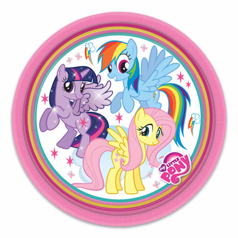 PLATES PAPER LARGE 23CM 8CT,  MY LITTLE PONY
