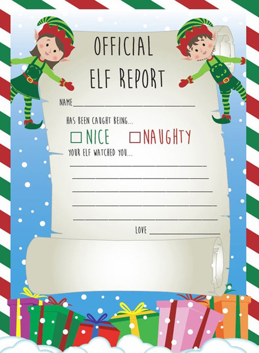 Christmas Elf Reports 25ct