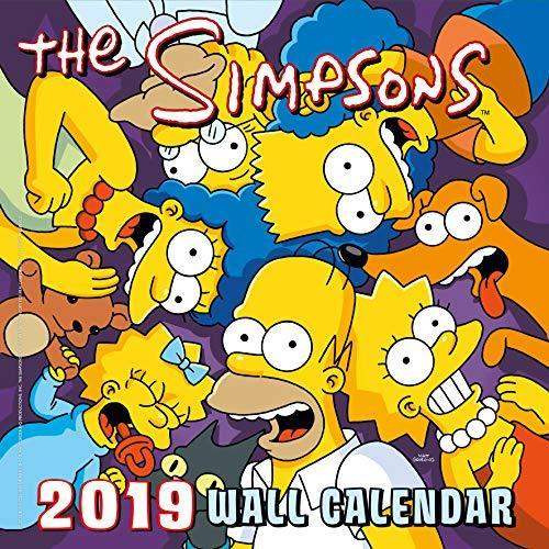 2019 Official Calendar Square The Simpsons