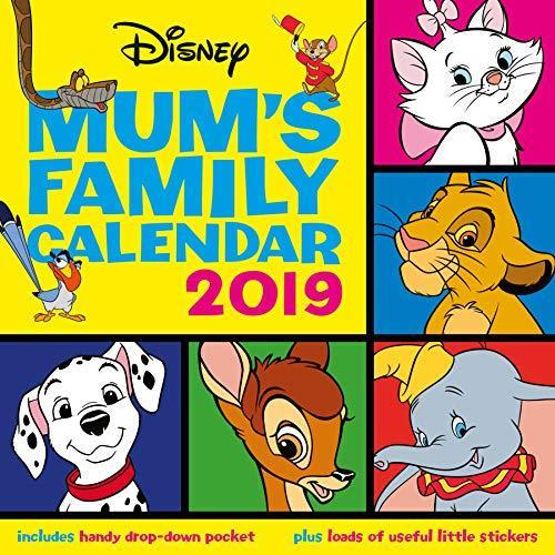 2019 Official Calendar Square Disney Classic Mum's Family