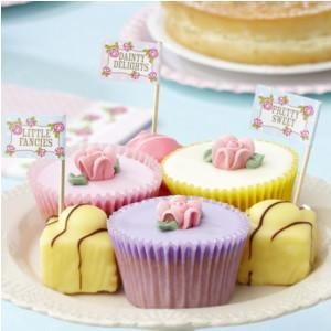 Vintage Rose - Cupcake Sticks