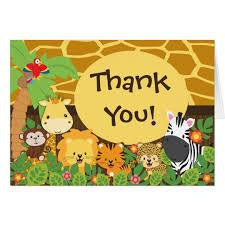THANK YOU:JUNGLE ANIMALS