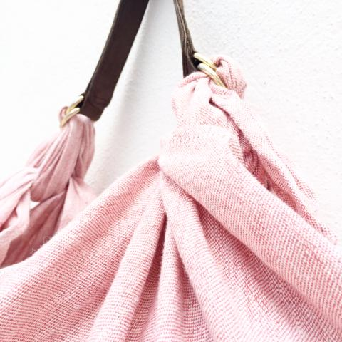 Furoshiki bag M. Soft Pink. Linen Edition