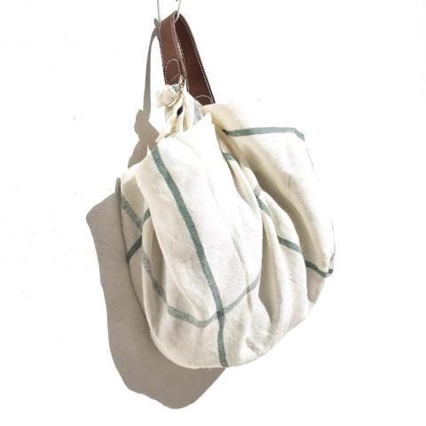 Furoshikik bag M. Lines Green. Linen Edition