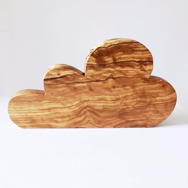 Tabla Decorativa Nube en Madera de Olivo
