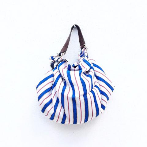 NEW! Furoshiki bag M. Seda Lines. Reversible. Silk Edition