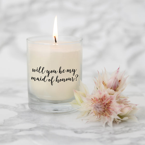 Will you be my Maid of Honour Candle