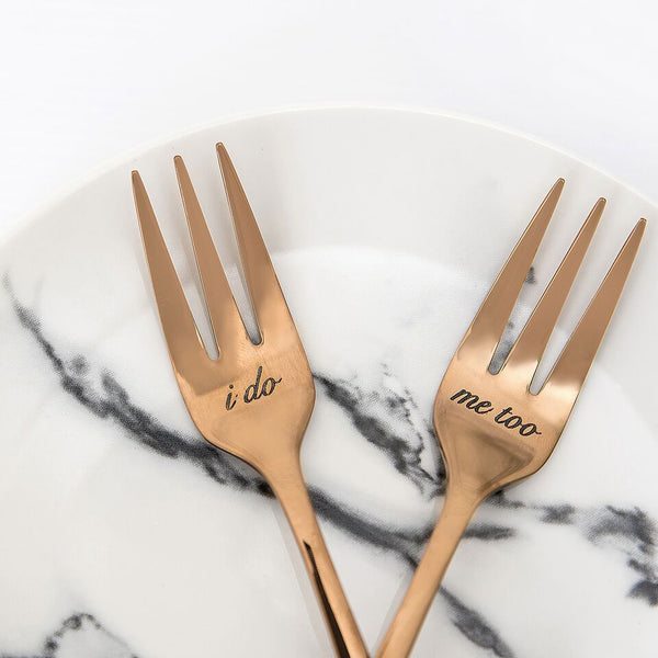 Rose Gold Cake Forks