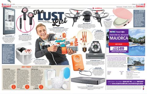 Metro's The Lust List chooses Micro Drone 3.0!