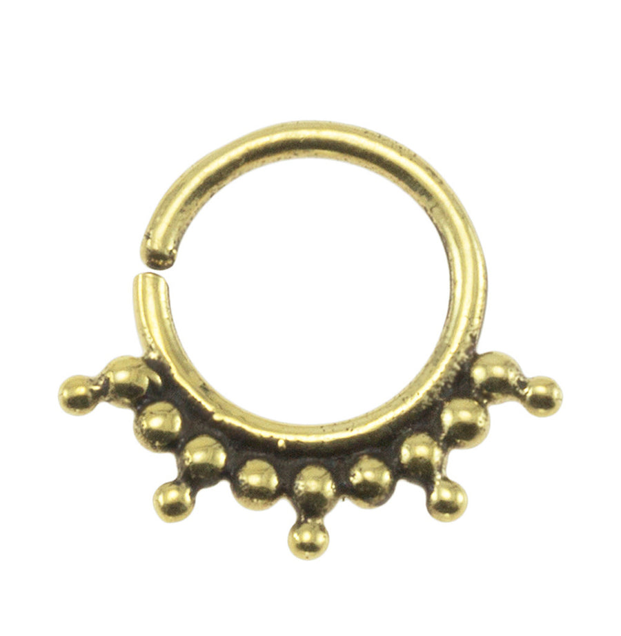 Brass Bohemian 18G Septum Ring
