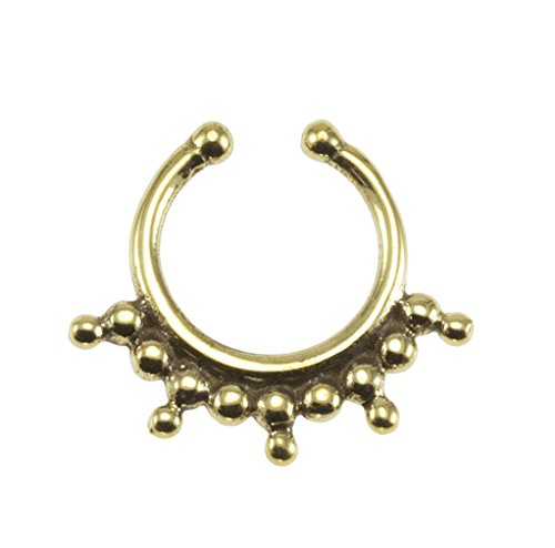 Brass Bohemian Fake Septum Ring