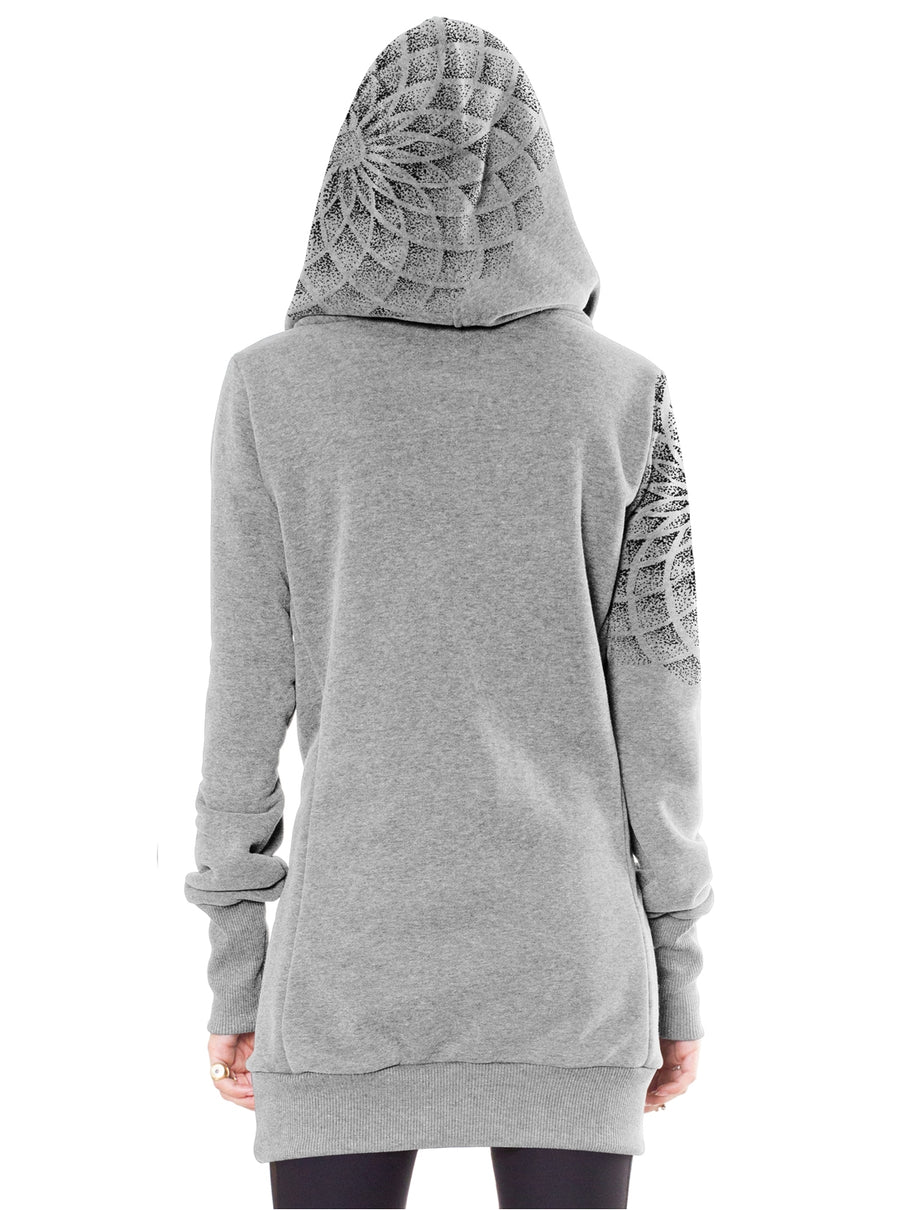 gray hoodie dress women