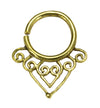 Brass Hearts Swirl Design 18G