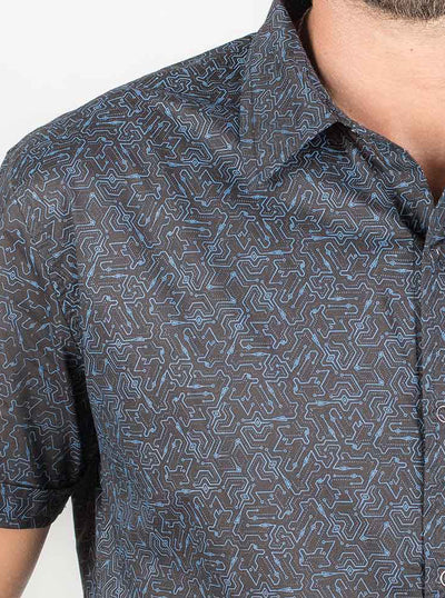 Allover Print Psychedelic Shirt