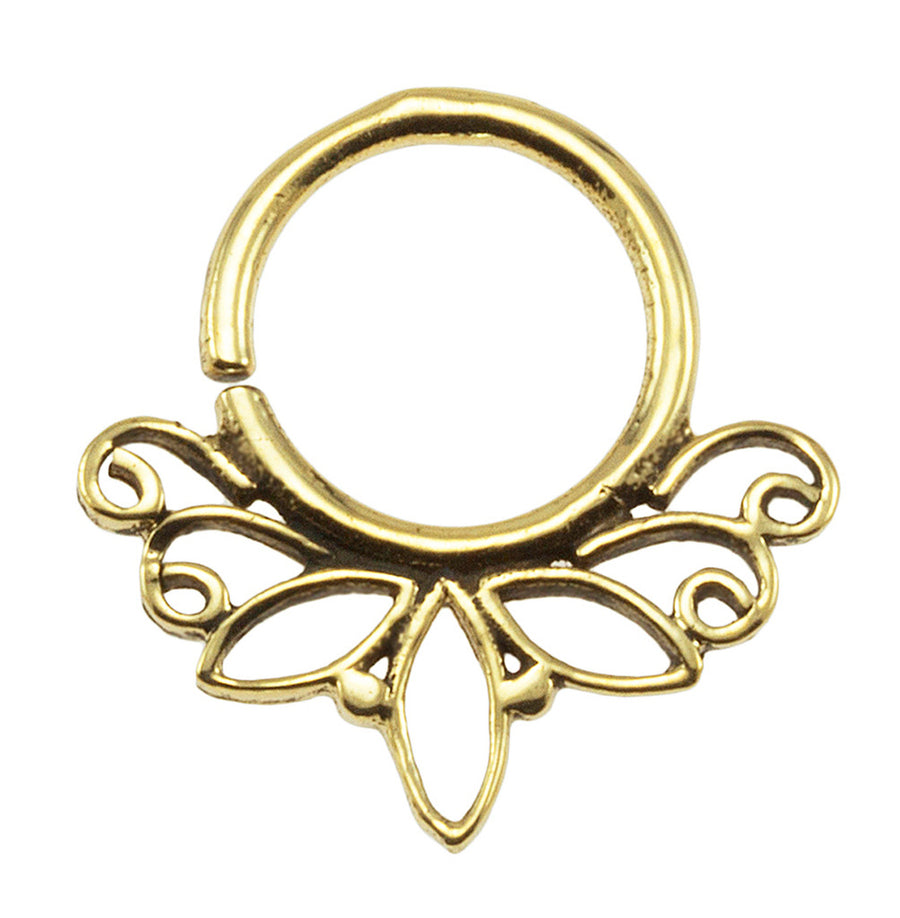 Brass Tribal Lotus Design 18G