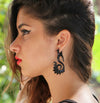 Horn Tribal Feather Earrings