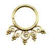 Brass Ornate Swirl Design 18G