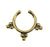 Brass Indian Fake Septum Ring