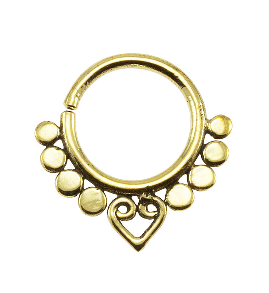 Brass Beads and Heart Design 18G