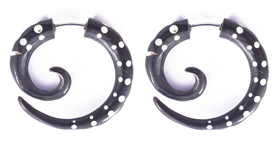 Horn Dots Spiral Fake Gauges