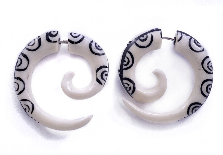Horn Circles Spiral Fake Gauges