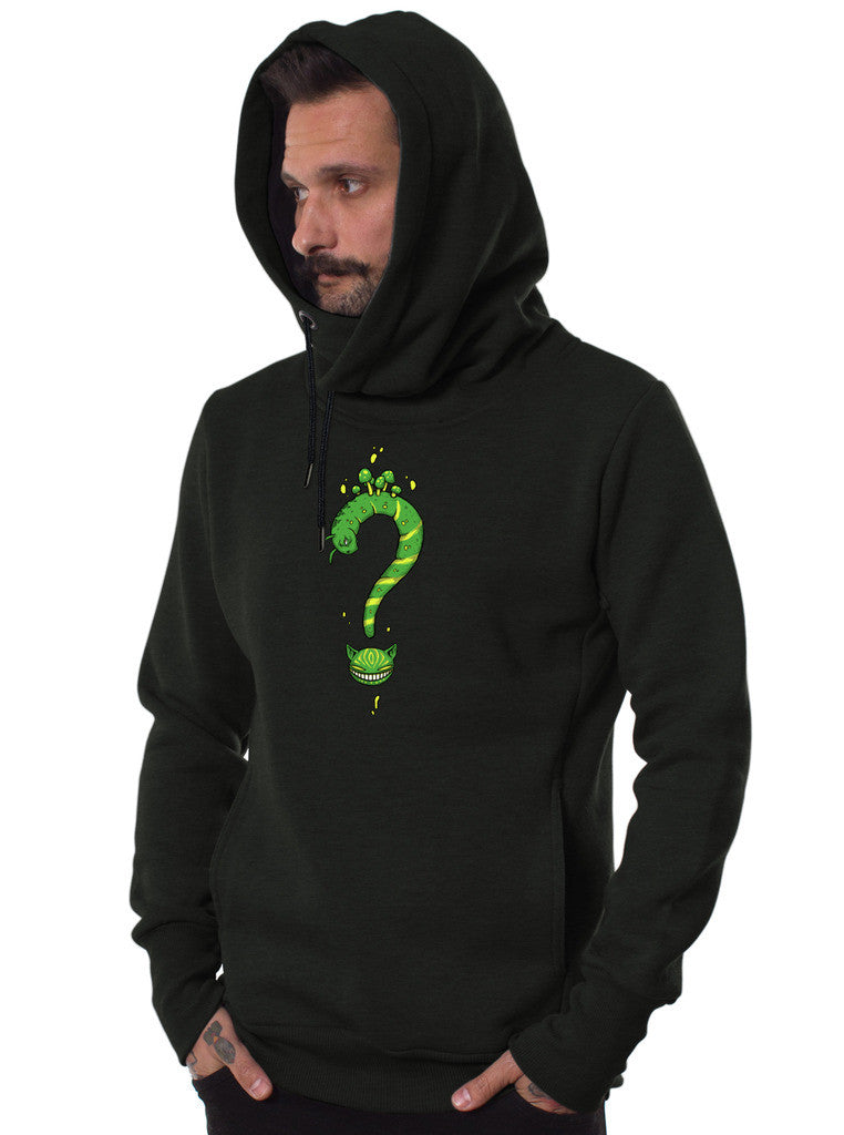 Mens Great Quality Hooded Sweatshirt With Psychedelic Alice In