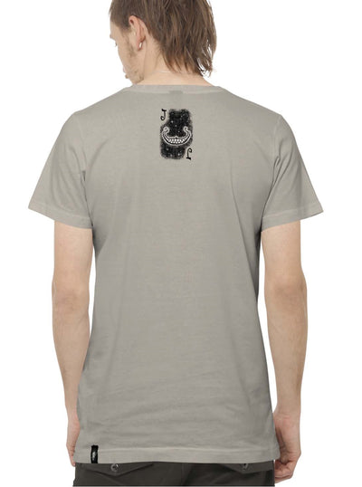 grey rave print t-shirt men