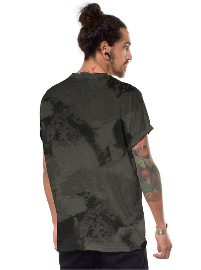 grey full print t-shirt for men