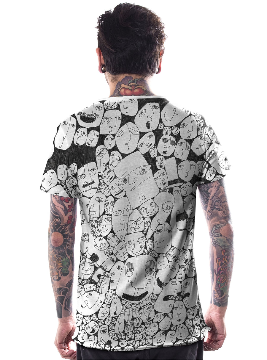 full print music festival t-shirt for men