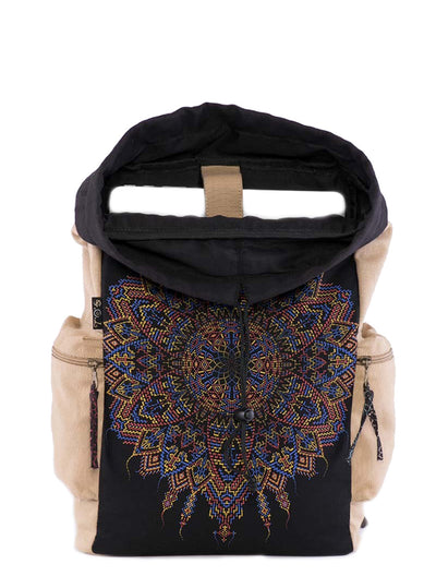 Mexica Psy Mandala Canvas Laptop Backpack