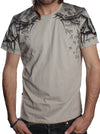 grey psychedelic full print t-shirt men