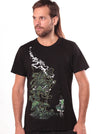 black t-shirt men festival print