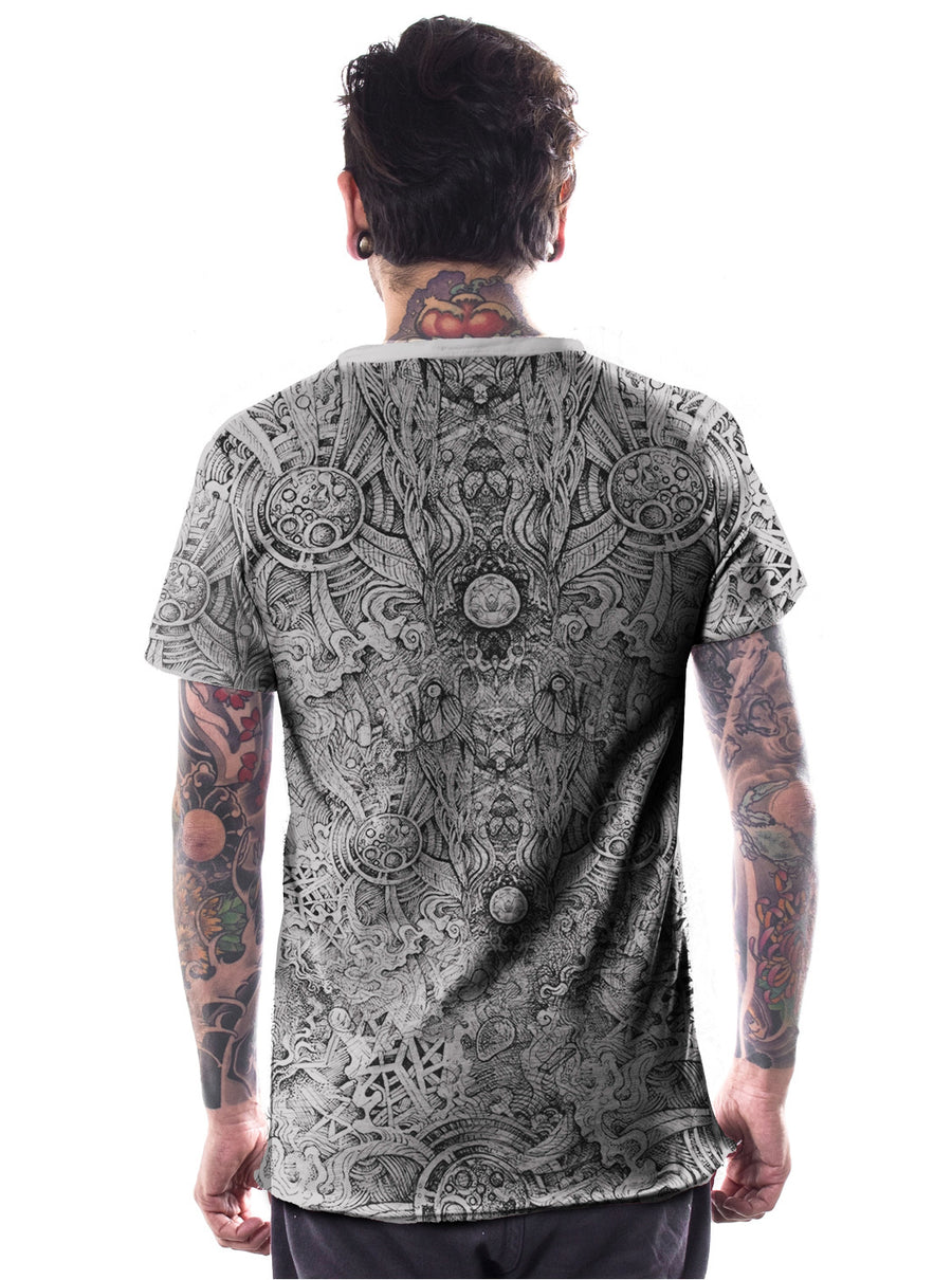 plazmalab grey psychedelic tee shirt men