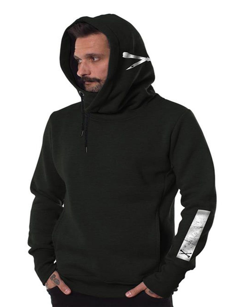 Plazmalab Hoodie Cross Bone and Dagger Fox Pirate