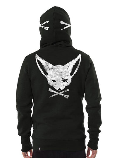 Hoodie Cross Bone and Dagger Fox Pirate