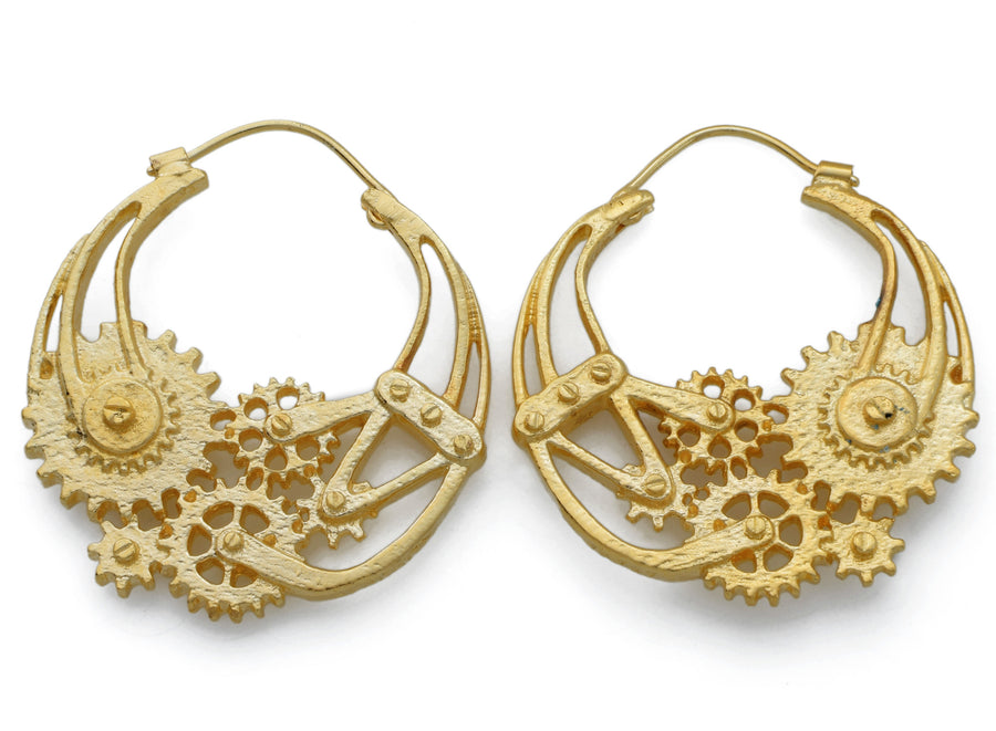 GP Brass Steampunk Earrings