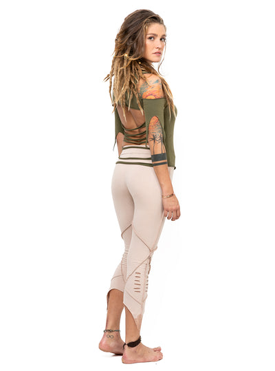 Pointy Pixie Leggings With Cut Detail Organic Cotton