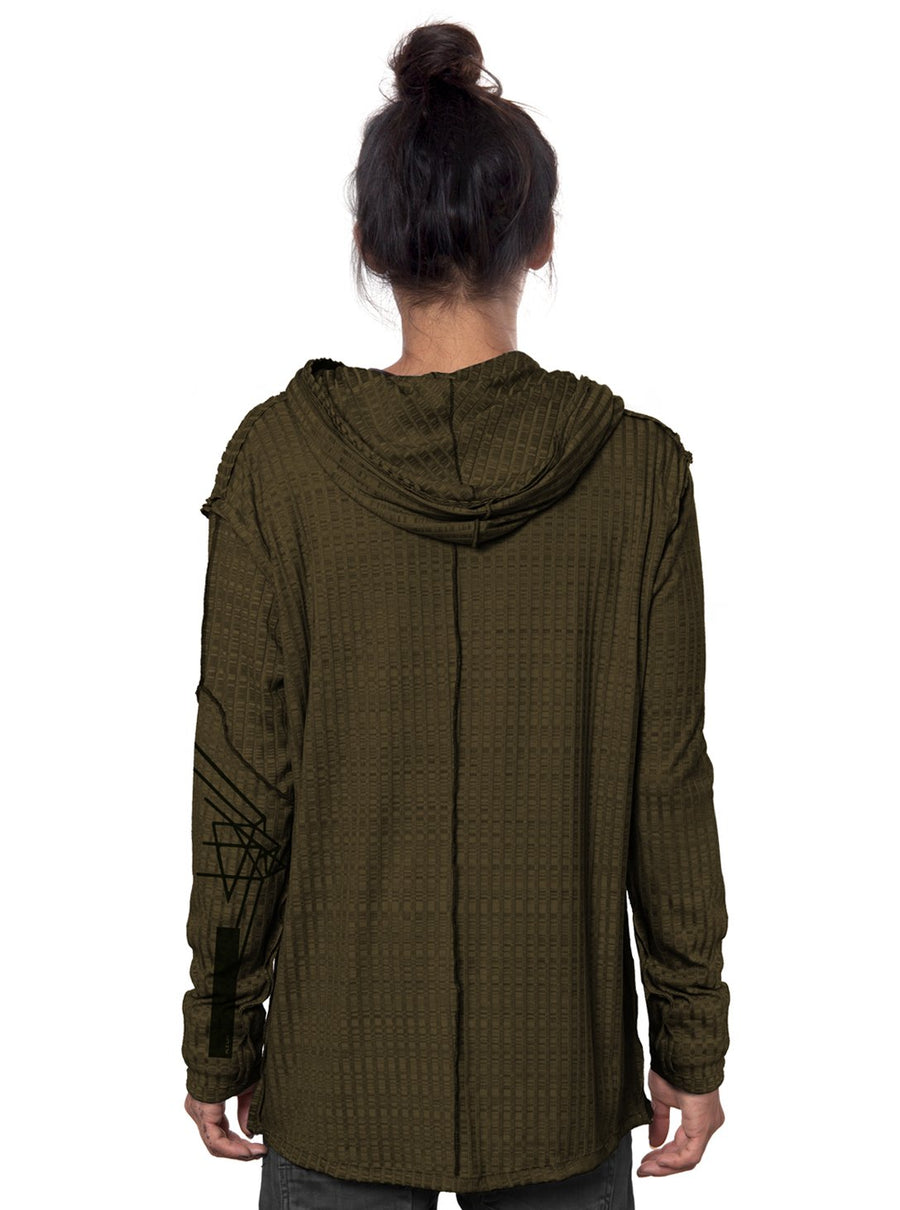 Plazmalab Lightweight Hooded Sweatshirt Khaki