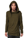 Lightweight Hooded Sweatshirt Khaki