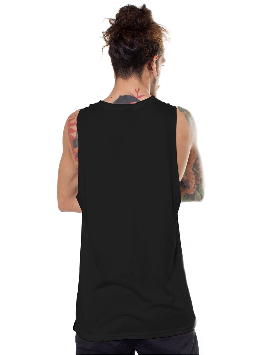 Modern Mask Totem Tank Top Black