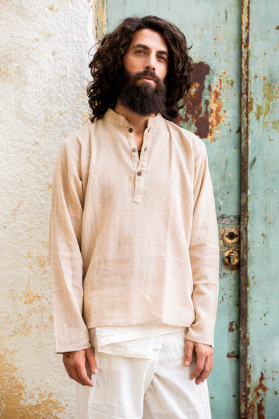 Short Button Front Kurta Shirt