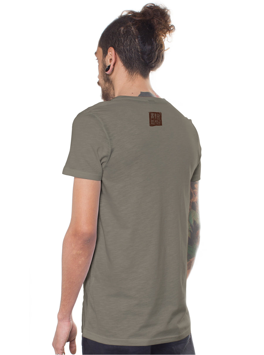 grey t-shirt men festival design