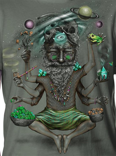 Mystical Old Man T-Shirt Colorful Psychedelic Print