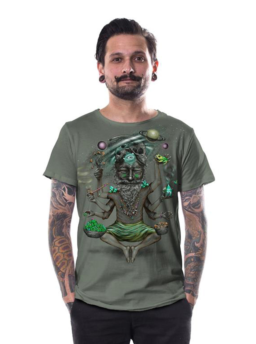 12a4d98e Fantasy T-Shirt Alice in Wonderland Play Your Cards Right Joker Top - Color  Olive - Street Habit