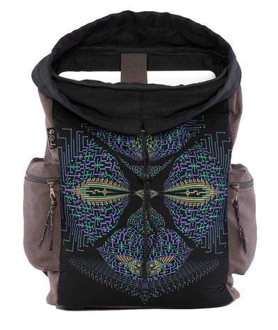 Totem Mask Canvas Laptop Backpack
