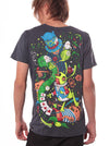 alice wonderland psychedelic print men t-shirt