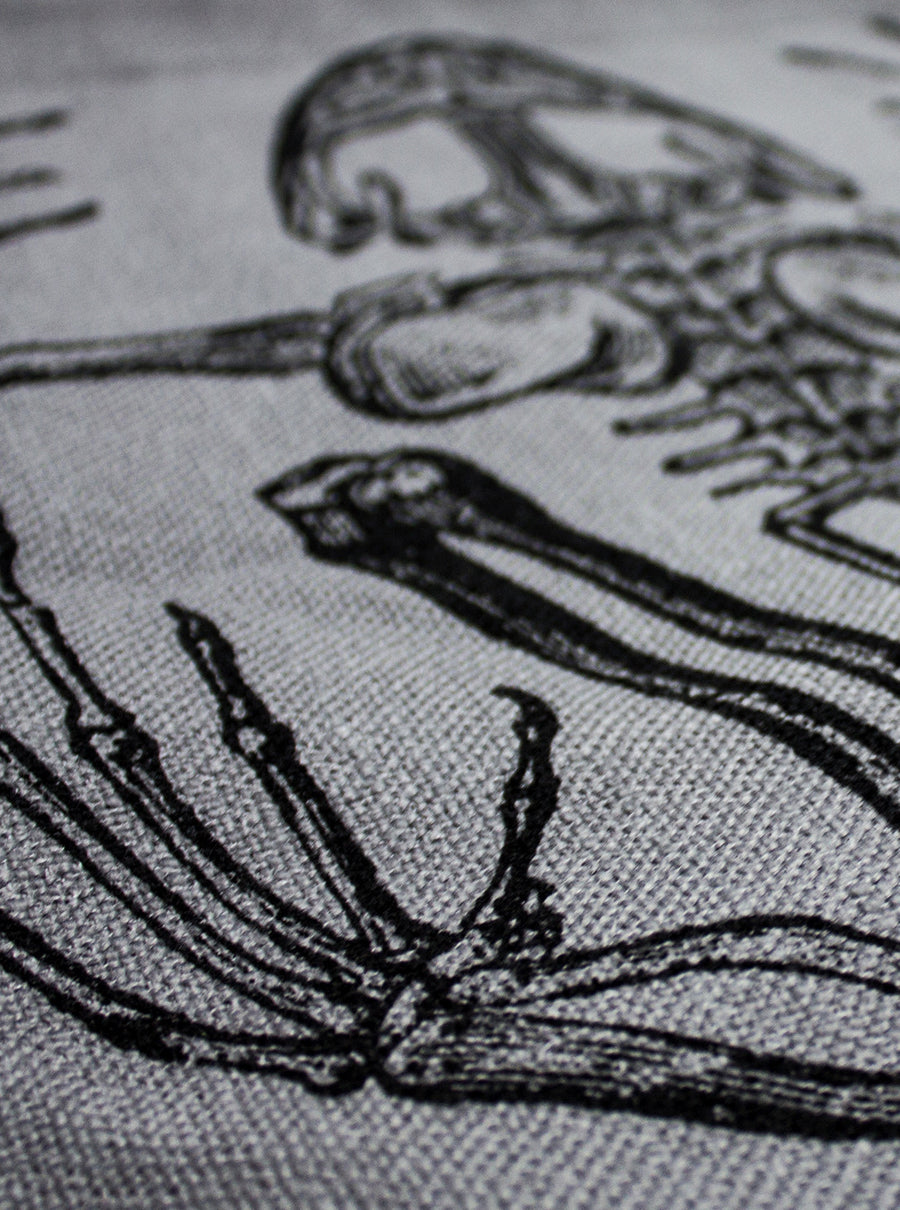 Frog Skeleton Canvas Sack bag