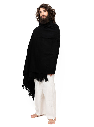 Handwoven Unisex Shawl Extra Large with Fringes