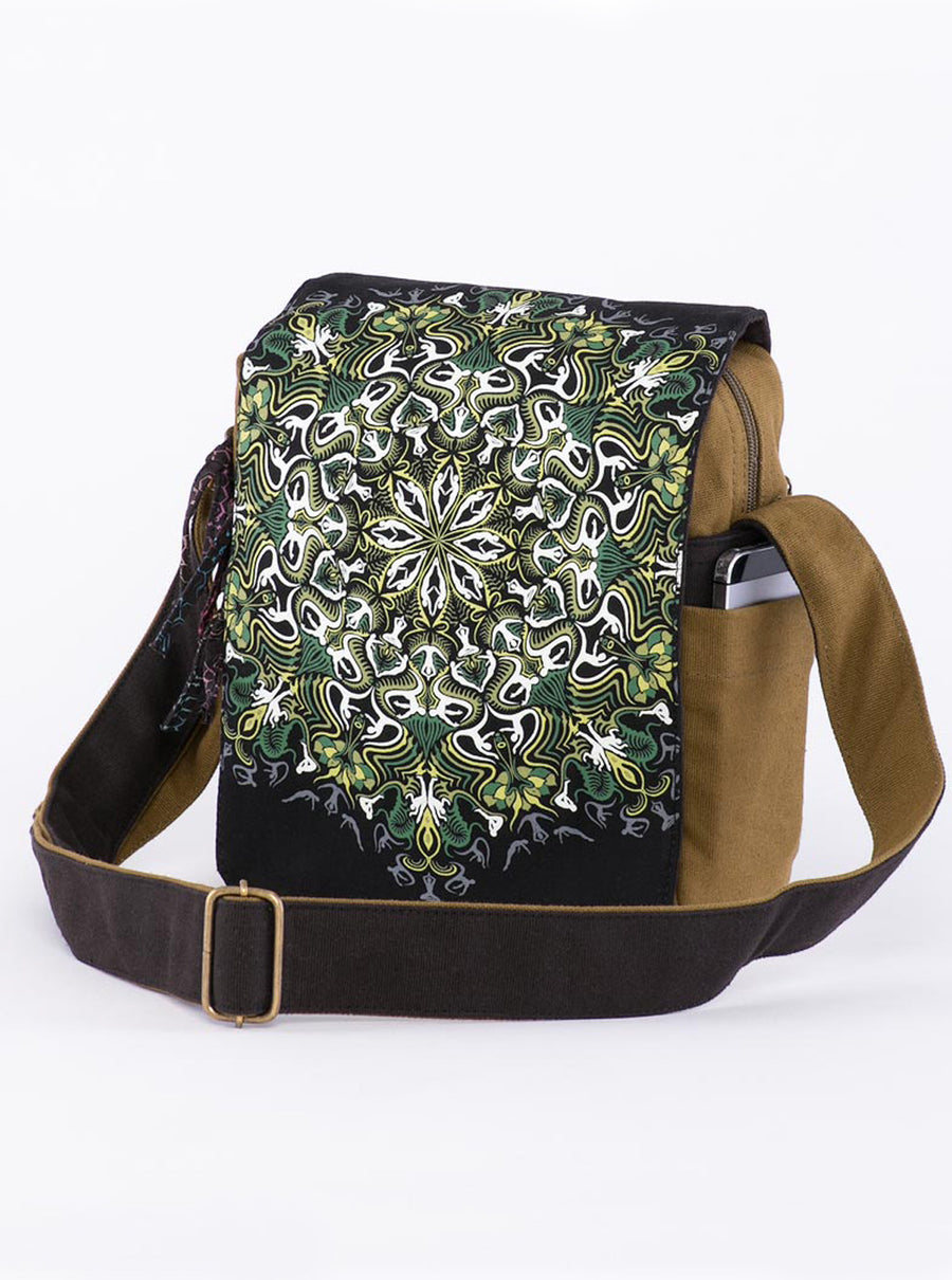 Lotus Mandala Crossbody Bag